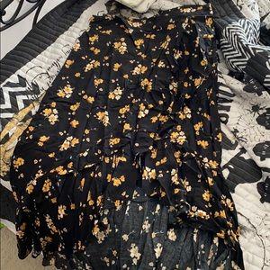 Torrid high low floral skirt